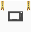 Microwave oven icon sign and button vector image