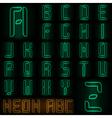 Neon ABC vector image