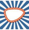 orange banner over starry background vector image vector image
