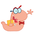 Pink Worm vector image vector image