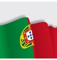 Portuguese waving Flag vector image vector image