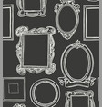 rococo wooden frames pattern wallpaper vector image vector image
