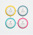 round business infographics with icons and 4 vector image