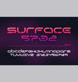 sci-fi futuristic technology alphabet uppercase vector image vector image