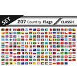 set 207 country flag vector image vector image