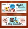 set of discount coupons for baby goods vector image vector image
