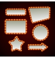 Set of retro light frames vector image
