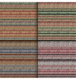 Set of seamless patterns with knitted stripes vector image vector image