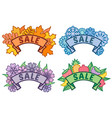 set of seasonal sale signs autumn winter spring vector image