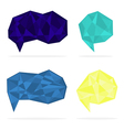 Set of trendy crystal shapes vector image vector image