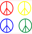 set peace symbols vector image