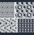 set seamless patterns abstract geometric vector image vector image