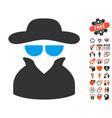 spy icon with valentine bonus vector image