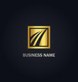 square arrow business gold logo vector image