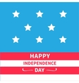 Stars Srips background Happy independence day vector image vector image