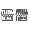store line and glyph icon business and market vector image vector image