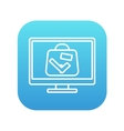 Suitcase at x-ray airport scanner line icon vector image vector image