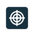 target icon Rounded squares button vector image vector image