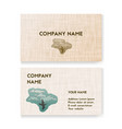 template business card for travel agency vector image
