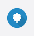 tree Flat Blue Simple Icon with long shadow vector image