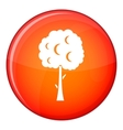 Tree with spherical crown icon flat style vector image vector image