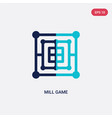 two color mill game icon from entertainment vector image vector image