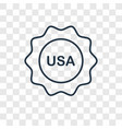 usa concept linear icon isolated on transparent vector image