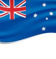 waving flag australia isolated on white vector image