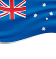 Waving flag of Australia isolated on white vector image