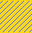 yellow and black diagonal lines seamless vector image vector image