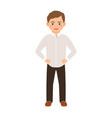 boy in a classic clothes vector image