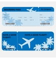 Airline boarding pass Blue ticket isolated on vector image