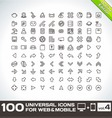100 Universal Icons For Web and Mobile volume 4 vector image vector image