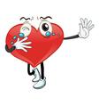 a heart vector image vector image