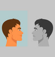 beautiful young man with bipolar disorder vector image vector image