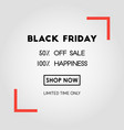 black friday sale poster on white background with vector image