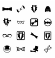 bow-tie icon set vector image