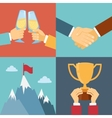 business success leadership and win vector image