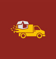 car delivery logo vector image