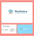 cloud downloading logo design with tagline front vector image vector image