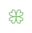 clover with four leaves sign icon vector image