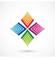 Color pattern icon vector image vector image