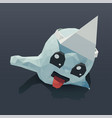 cute ghost low poly for vector image vector image