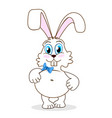 cute little rabbit vector image