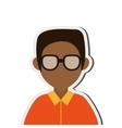 dark skin faceless man portrait icon vector image vector image