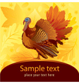 Decorative card with turkey vector | Price: 1 Credit (USD $1)