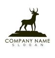deer logo 2 vector image vector image