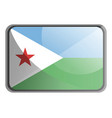 djibouti flag on white background vector image vector image