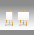 easel canvas stand board isolated wooden vector image vector image