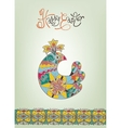 Easter card ethnic chick hand-drawn typography vector image vector image